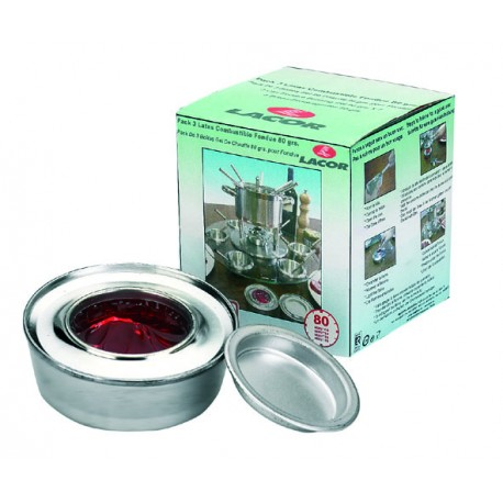PACK 3 LATAS COMBUSTIBLE FONDUE 80GRS