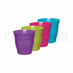SET 4 VASOS DE MELAMINA 225ML