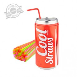 DISPENSADOR DE PAJITAS COOL STRAWS