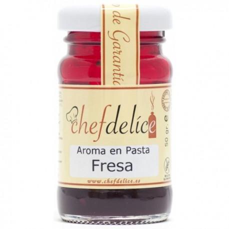 AROMA DE FRESA EN PASTA 50GR CHEF DELICE