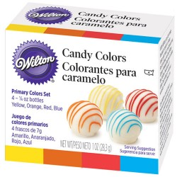 SET COLORANTES CHOCOLATE / CARAMELO WILTON