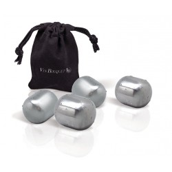 SET 4 CUBITOS DE ACERO INOX ICE ROCKS VIN BOUQUET