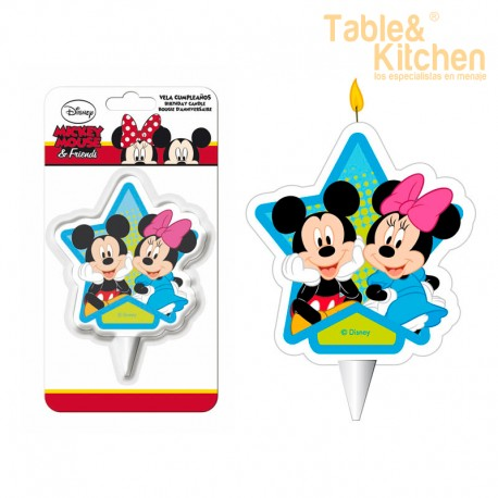 VELA MICKEY & MINNIE 7,5,CM